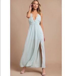 Nwt tobi opposites attract lace maxi dress